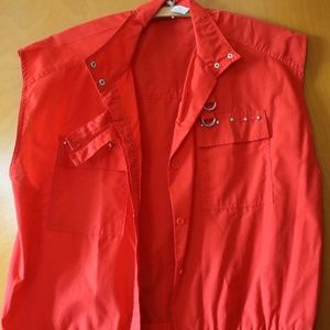 CUTE VINTAGE RED JACKET W/POCKET&BUTTONS